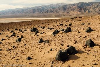 Death Valley and Telescope Peak from Ventifact Ridge