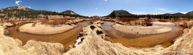 stream meanders along the Fall River, Rocky Mountain National Park, Colorado