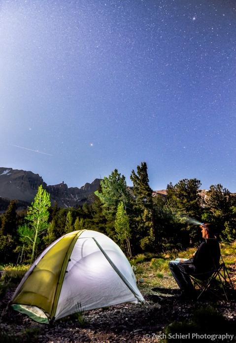 Full Moon sky over Wheeler Peak, Great Basin National Park, Nevada