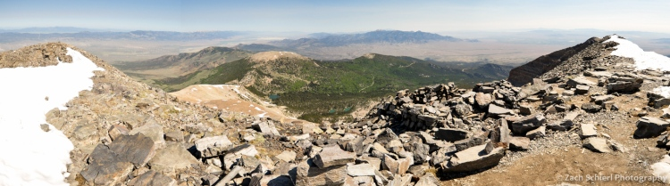 Panorama from summit of Wheeler Peak