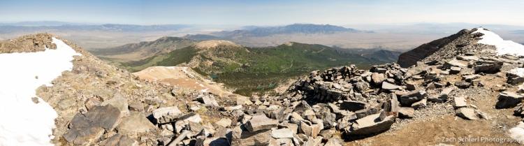 Panorama from summit of Wheeler Peak