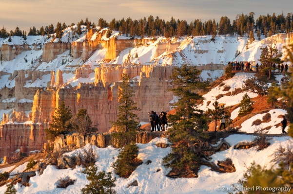 People watching sunrise at Bryce Canyon National Park