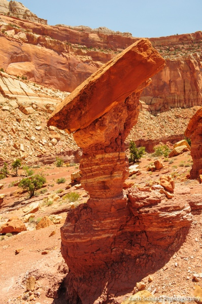Balanced rock hoodoo, Capitol Reef National Park