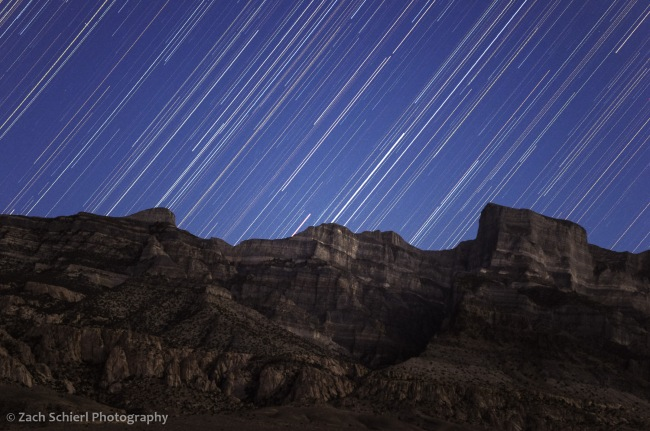 Star trails over Notch Peak