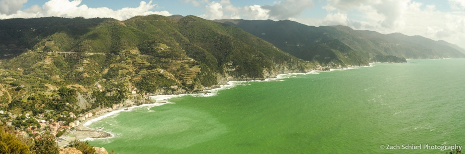 Panorama of the Cinque Terre Coastline