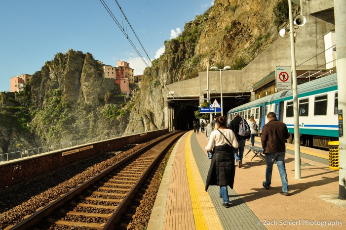 The train station in Manarola, Cinque Terre