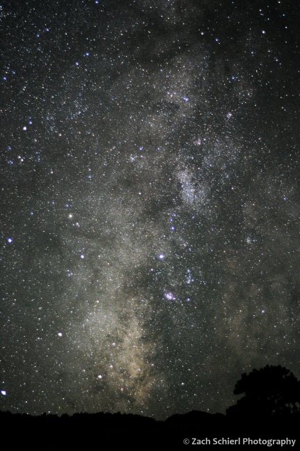 The Summer Milky Way sets over the southern horizon